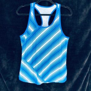 Adidas Climalite blue and white tank